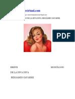 Breve Monologo de La Diva Diva Benjamin Gavarre
