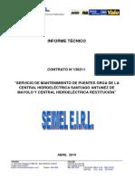 Informe Final 1_Servicio de Mantenimiento de Puentes Grua de La Central Hidroelectrica SAM y RON635696172524367411
