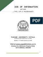 MPhil Phd Handbook of Information