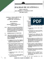 Reglamento Drenajes Ciudad Guatemala