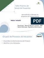 Seminario Avanzado de Gestión de Proyectos - Iniciación
