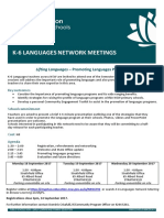 k-6 languages network meetings - term 3 2017