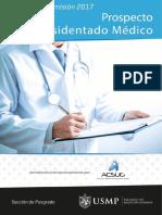 Prospecto Residentado Medico 2017