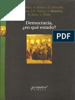Agamben, Badiou, Nancy, Zizek.  Democracia En qué estado. Prometeo