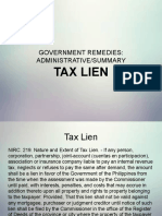 Tax2 Lien and Injunction