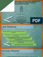 Formulasi Kapsul Campuran Ekstrak Daun Pepaya (Carica