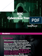Soc vs Cybercrime