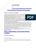 What is family Worship.docx