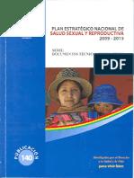Plan Estratégico Nacional de Salud Sexual y Reproductiva 2009 - 2015