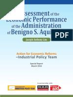 Assessment of Econonomic Performance of Aquino 2016