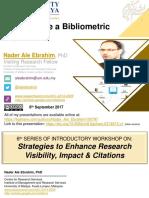 How to Write a Bibliometric Paper