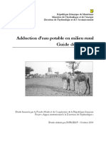 Guide Des Projets_Adduction d'Eau Potable en Milieu Rural_Mauritanie