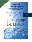 Benveniste Jacques - Ma vÇritÇ sur la mÇmoire de l'eau.pdf