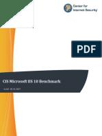 CIS Microsoft IIS 10 Benchmark v1.0.0