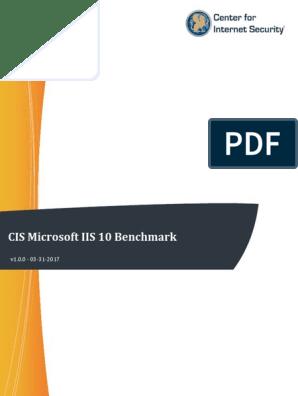 CIS Microsoft IIS 10 Benchmark v1 0 0 | Transport Layer Security