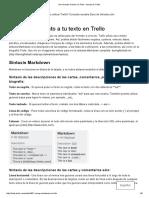 Dar Formato Al Texto en Trello - Ayuda de Trello