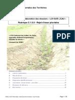 Guide Pour l'Élaboration Des Dossiers_Loi Sur l'Eau_Rejet d'Eau Pluviales