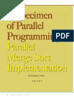 Paper Parallel Merge Sort