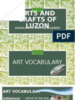 Arts and Crafts of Luzon (Highlands and Lowlands)