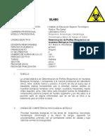 Silabo de determinacion de perfiles bioquimicos en muestras biologicas humanas I