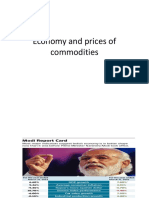 Economy and Prices of Commodities under modi government