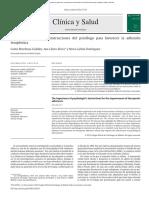 Clínica y Salud_Importancia Instrucciones Adherencia Terap
