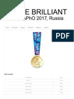 Winners – APhO 2017