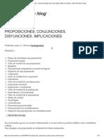 Proposiciones, Conjunciones, Disyunciones, Implicaciones