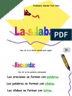 clasificación de las palabras por silabas