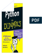 Python for Dumies