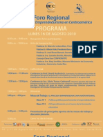 Programa Foro Regional-2010
