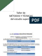 Taller de Metodos y Tecnicas de Estudio
