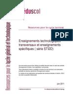 LyceeGT Ressources STI2D T Enseignement Technologique Specifiques 182152