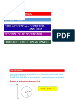 Circunferencia - Geometría Analítica