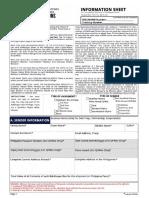 Balikbayan Information Sheet