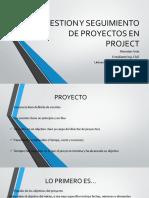 Gestion de Proyectos en Project