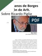Noe Jitrik en Las Manos de Borges El Corazón de Arlt Artículo Sobre Piglia Reeditado en Revista Landa