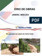 Relatório Obras 1o. Quadri 2014
