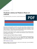 Trasferire Rubrica Da Windows Phone Ad Android