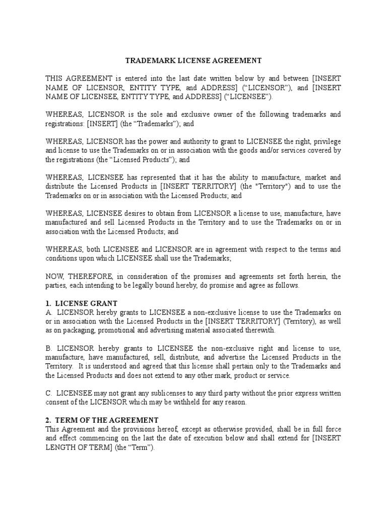 Trademark license agreement license arbitral tribunal platinumwayz