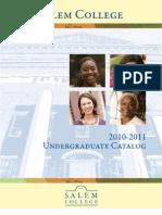 2010-11 Salem Undergraduate Academic Catalog