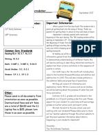 third grade newsletter sept 17