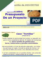 Caso Presupuesto Tortillas