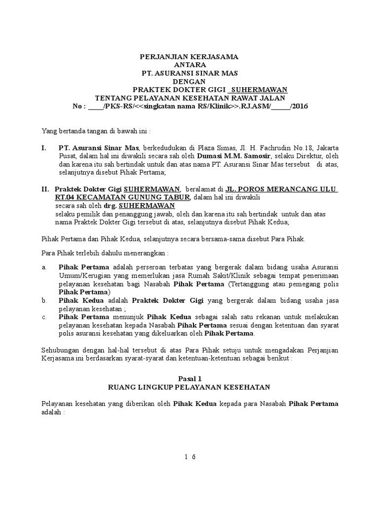 Draft Pks Rawat Jalan Khusus Dokter Gigi Suhermawan