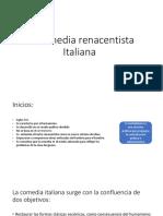 La Comedia Renacentista Italiana