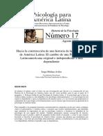 Molina Aviles - Hacia La Constucción de Una Historia de La Psicología de América Latina