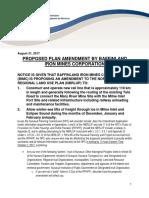 NPC Public Notice Re Proposed Plan Amendment-IA1E