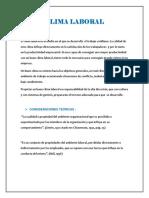 Clima Laboral.administración Psicología.
