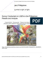 Survey Conducted on LGBTs in the Philippines_ Results and Analysis _ the Rainbow Project Philippines