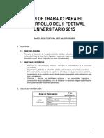 Bases de Festival de Talentos 2015